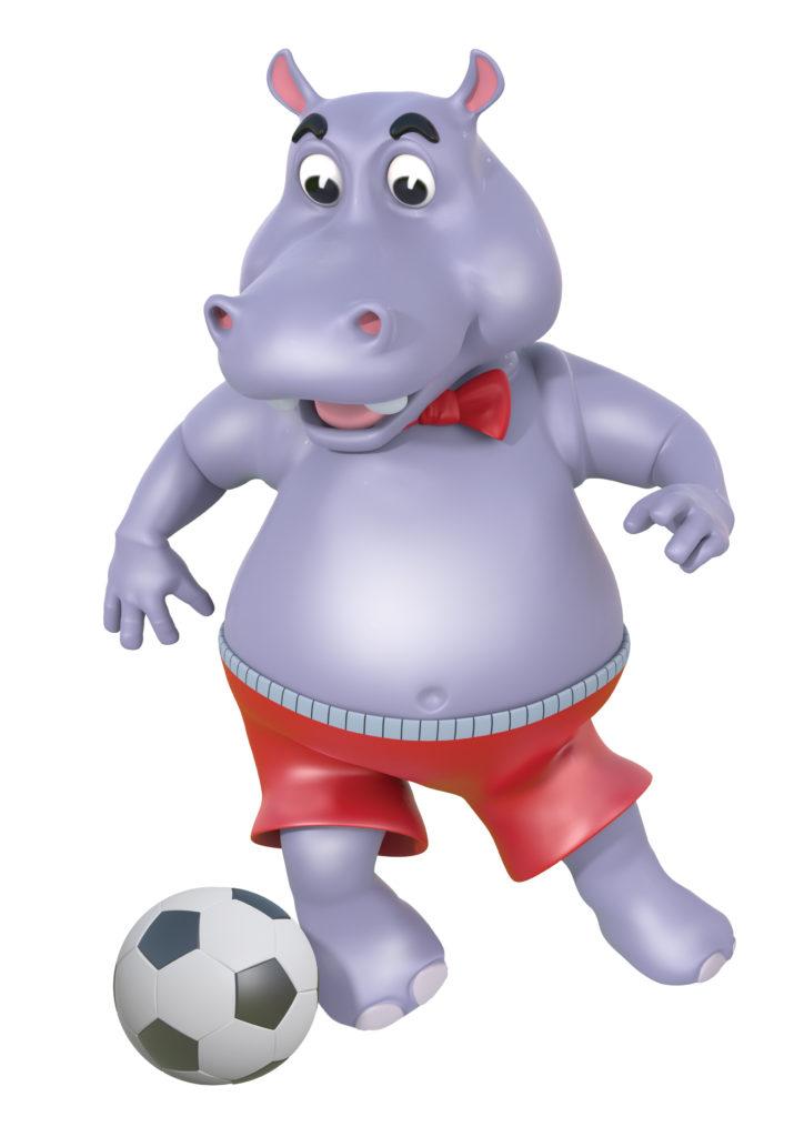 D.O.P Hippo Soccer Pose 1