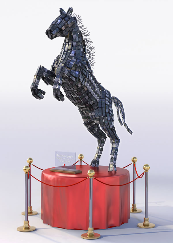 3D Cell Horse