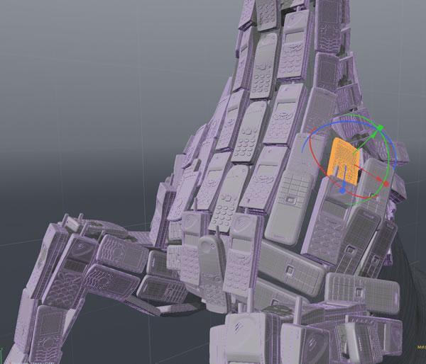 3D Cell Horse - Instances
