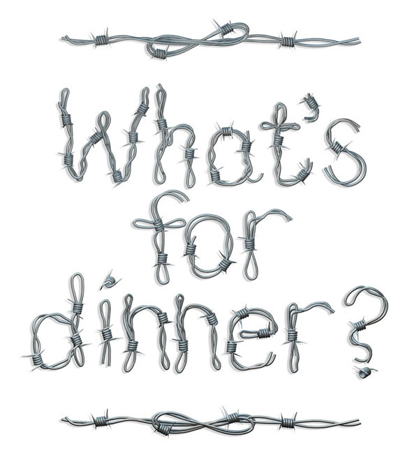 Whats for dinner text